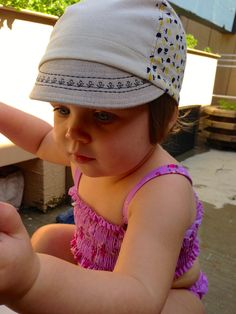 tiny tulips corduroy & linen cycling cap for toddlers. $25.00, via Etsy.