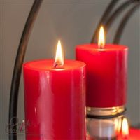 Red Pillar Candles - Think ahead and make sure to get your Red candles for the Holiday season. Pair red candles with holly, fern leaves, or festive Christmas ornaments to achieve a fabulous and perfect holiday glow! White Candles, Pillar Candles, Holly Fern, Festive, Glow, Parties, Leaves, Christmas Ornaments, Holiday