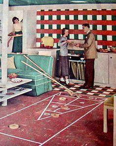 vintage rumpus room shuffleboard - Google Search