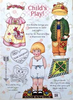 Mary Engelbreit Mag. Paper Doll, ANN ESTELLE, Feb./March 1997, 2nd Issue, Uncut…
