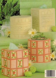 Bathroom-Tissue-Sets-Leisure-Arts-Home-Decor-Plastic-Canvas-Pattern-Booklet-237