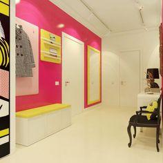 pop art hallway