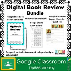 Check out this product on my TpT Store now! This digital book review bundle includes everything you and your students need to create a great looking Digital (or Print) Book Report. The included google form discussion question assignment challenges students to analyze setting, character actions, author tone and purpose, point of view, plot development, and […] The post Digital Book Review Template Bundle for any Novel appeared first on STEM Printables - Foldables  Graphic Organizers for Int