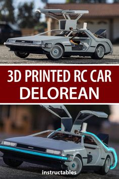 Build a 3D printed RC car modeled after the Back to the Future Delorean DMC-12/BTTF time machine.  #Instructables #toy #model #3Dprint #Fusion360 Delorean Time Machine, The Time Machine, Fusion 360, Bttf, Outdoor Activities For Kids, Rear Differential, Teacher Notes, Weird Cars, 3d Prints