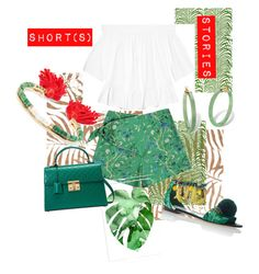 """""""Short (s) Stories"""" by fabrique ❤ liked on Polyvore featuring Woolrich, Elizabeth and James, Samantha Pleet, Pottery Barn, Gucci, Aurélie Bidermann, Palm Beach Jewelry, Dolce&Gabbana, Summer and styles"""