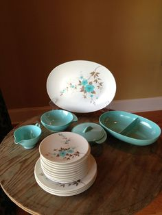 spice dishware Soviet decor tableware retro mini dessert serving tray glass bowl USSR little round dishes Set of 5 Small Vintage Plates