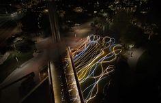 Artist Grimanesa Amorós' Light Installation on the Paolo Soleri Bridge Read Entire Article at: http://designlifenetwork.com/bridge-to-enlightenment #Arizona #ContemporaryArt #GrimanesaAmorós #LED #Installation #LEDLightingInstallation #LightInstallation #LightingArt #LightingInstallation #PaoloSoleri #Scottsdale #SoleriBridge