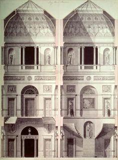 Portman Square, Home House (1770) - Robert Adam architect 18th century
