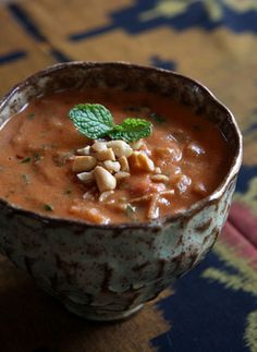 Spicy African Peanut Soup-going to try to make this, hopefully it's like Ellicotville Brew Co's