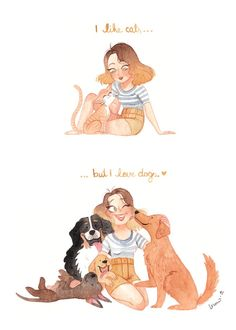 Karoline Pietrowski The post Karoline Pietrowski appeared first on Best Pins for Yours - Drawing Ideas The Cute Drawings, Animal Drawings, Dog Illustration, Illustrations, I Love Dogs, Cute Dogs, Blog Logo, Girl And Dog, Dog Quotes