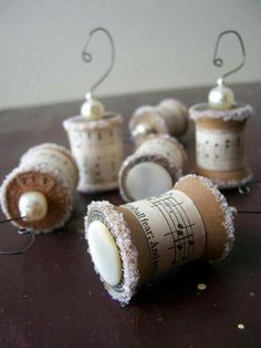 Thread spool ornaments