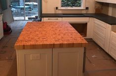 Here's an End grain Hard Maple Butcher Block Countertop > This one was just delivered via freight in New Jersey and the is still underway. Thank you for the photo Charles! Maple Butcher Block Countertop, Wood Countertops, Custom Butcher Block, Fine Woodworking, Cabinet, Kitchen, Home Decor, Clothes Stand, Wooden Countertops