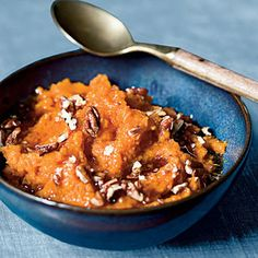 Maple-Pecan Sweet Potato Mash