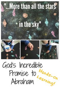 A fantastic object lesson/art project to illustrate just how lavishly God was going to bless Abraham.
