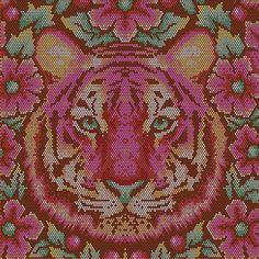 Tourmaline Crouching Tiger - Eden by Tula Pink - Designerstoff