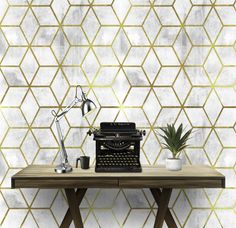 Items similar to Gold Geo Cement Wall Covering Art Removable Self-Adhesive Wallpaper on Etsy Art Deco Wallpaper, Gold Wallpaper, Modern Wallpaper, Self Adhesive Wallpaper, Cement Walls, Temporary Wallpaper, Drawer And Shelf Liners, Smooth Walls, Removable Wall