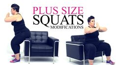 Squat Exercise Modification - plus size - workout - episode 2 One of my favorite exercises that doesn& require equipment, that has space for my belly apron, and works not only my booty, my hanstrings (back o. Pilates Workout, Hiit, Workout At Work, Dumbbell Workout, Squat Exercise, Exercise Ball, Plus Size Fitness, Plus Size Workout, Fitness Diet