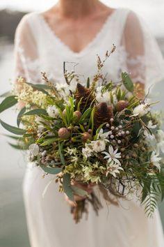 Native Australian bouquet by Merrin Grace   Photography by Bear Deer Fox