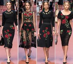Milan Fashion Week Dolce and Gabbana Fall Winter 2015-2016 Dresses