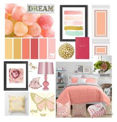 """""""Sorbet"""" by burlsgurl ❤ liked on Polyvore featuring interior, interiors, interior design, home, home decor, interior decorating, Seed Design, JCPenney Home, Aviva Stanoff and Americanflat"""