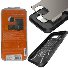 Galaxy S 6 Protective Case Spigen Tough Armor Heavy Duty Cover Built-in Stand    #Spigen