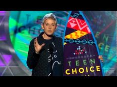 After win for Choice Comedian Ellen speaks to the importance of being unique and different at Teen Choice Awards 2015 Full Show