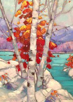 """Winter Birch"" - Original Fine Art for Sale - ©Krista Eaton"