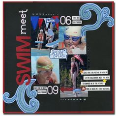 Scrapbook page - swim meet