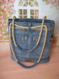 Handmade women s bags order jeans Order jeans … - Diy And Craft Love this denim tote! Cool country more Leather details? Arts and crafts fair. Interior, style, cord, metal accessories DIY Bag and Purse Chic bag made of old jeans diy – Artofit A beade Handmade Handbags, Handmade Bags, Denim Purse, Denim Crafts, Recycled Denim, Old Jeans, Fabric Bags, Purses And Bags, Women Bags