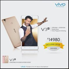 Vivo V3 Now Available at a Discounted Price of INR 14980