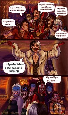 Even Disney villains have to have some standards<<< Yes yes they do
