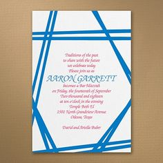 Uniting Tradition - Invitation    |  40%  OFF  |  http://mediaplus.carlsoncraft.com/Parties--Celebrations/Bar--Bat-Mitzvah-Invitations/3125-BAN32688I-Uniting-Tradition--Invitation.pro