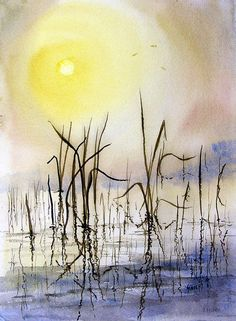 Reeds Painting by Sam Sidders - Reeds Fine Art Prints and Posters for Sale