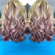 Purple and blonde balayage. Edgy Blonde Hair, Purple Highlights Blonde Hair, Silver Blonde, Balayage Hair Blonde, Ombre Hair, Hair Dye, Purple Hair, Spring Hairstyles, Pretty Hairstyles