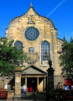 The kirk (Church) of the Canongate, Edinburgh, Scotland was founded in 1688 and completed in 1691. It is a congregation of the Church of Scotland. The parish includes the Palace of Holyroodhouse and the Scottish Parliament. It is also the parish church of Edinburgh Castle.