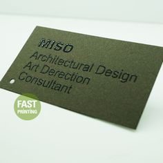 Raised Business Card #FPbusinesscard #fastprinting