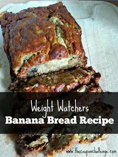 Try this fabulous Weight Watchers Banana Bread Recipe.  It's just 2 points per muffin or 4.25 points per slice.