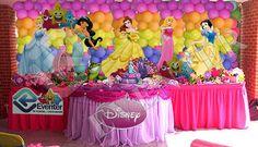 Princess Birthday Party Decorations, Disney Princess Birthday Party, Princess Theme Party, Trolls Birthday Party, Birthday Party Favors, 1st Birthday Parties, Bday Girl, 1st Birthdays, Balloon Decorations