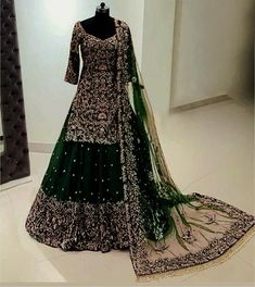 Art Silk Georgette Heavy Embroidered Sharara Suit Check   Etsy Indian Wedding Gowns, Party Wear Indian Dresses, Designer Party Wear Dresses, Indian Bridal Outfits, Pakistani Bridal Dresses, Pakistani Dress Design, Indian Designer Outfits, Indian Gowns, Designer Wear
