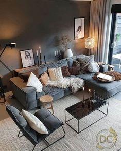 Living Room Decor Cozy, Rooms Home Decor, Living Room Grey, Living Room Modern, Living Room Interior, Home And Living, Living Room Designs, Small Living, Living Room Inspiration