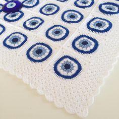 Hayırlı haftalar#günaydın #nazarboncugu #battaniye #bebekbattaniyesi #babyblanket #crochet #crochetblanket #örmeyiseviyorum