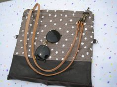 Cross body bag hand painted fold over clutch