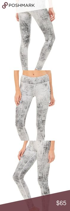 Alo Airlift legging NWOT airlift leggings in crackle print    - Engineered to lift, sculpt, contour and smooth - 4-way-stretch fabric for a move-with-you feel - Moisture-wicking antimicrobial technology - Second-skin ultra-light feel ALO Yoga Pants