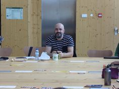 Afonso Cruz, escritor, ilustrador, realizador e músico, no primeiro encontro REDA (11/03/17).