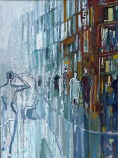 "Konrad Stafiński ""Electricity"" Oil on canvas 50X40cm, 2015"