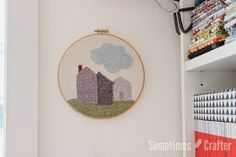 Sew in Love {with Fabric}: Blenders Hop Day 1: Burlap Hoop Art