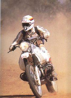 Gaston Rahier auf der Boxer BMW 980 - 1984