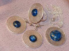Cleopatra3 Lapis Lazuli Handmade filigree by gejewellery on Etsy