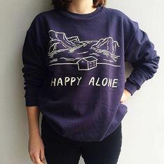 Guess who's back - back again? Our @satoshikurosaki Happy Alone sweatshirt is who (