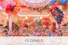 Showstopping Early Hours London floral and Bubblegum balloon installation at The lanesbrough to dress their end of Summer Fiesta Soiree Balloon Tassel, One Balloon, Tassel Garland, Balloon Garland, Garlands, Wedding Flower Inspiration, Wedding Flowers, Hotel Flowers, Bubblegum Balloons